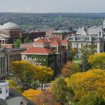 Aerial view of Syracuse University